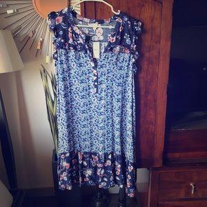 Blue floral cotton sundress
